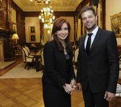 Ricky Martin y la Presidenta de Argentina, Cristina Fernández, en Buenos Aires
