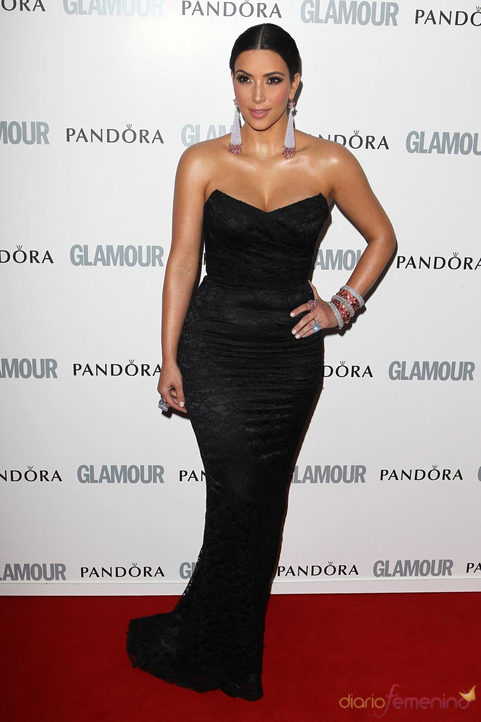 Kim Kardashian en los premios 'Las Mujeres del Año' 2011 de Glamour
