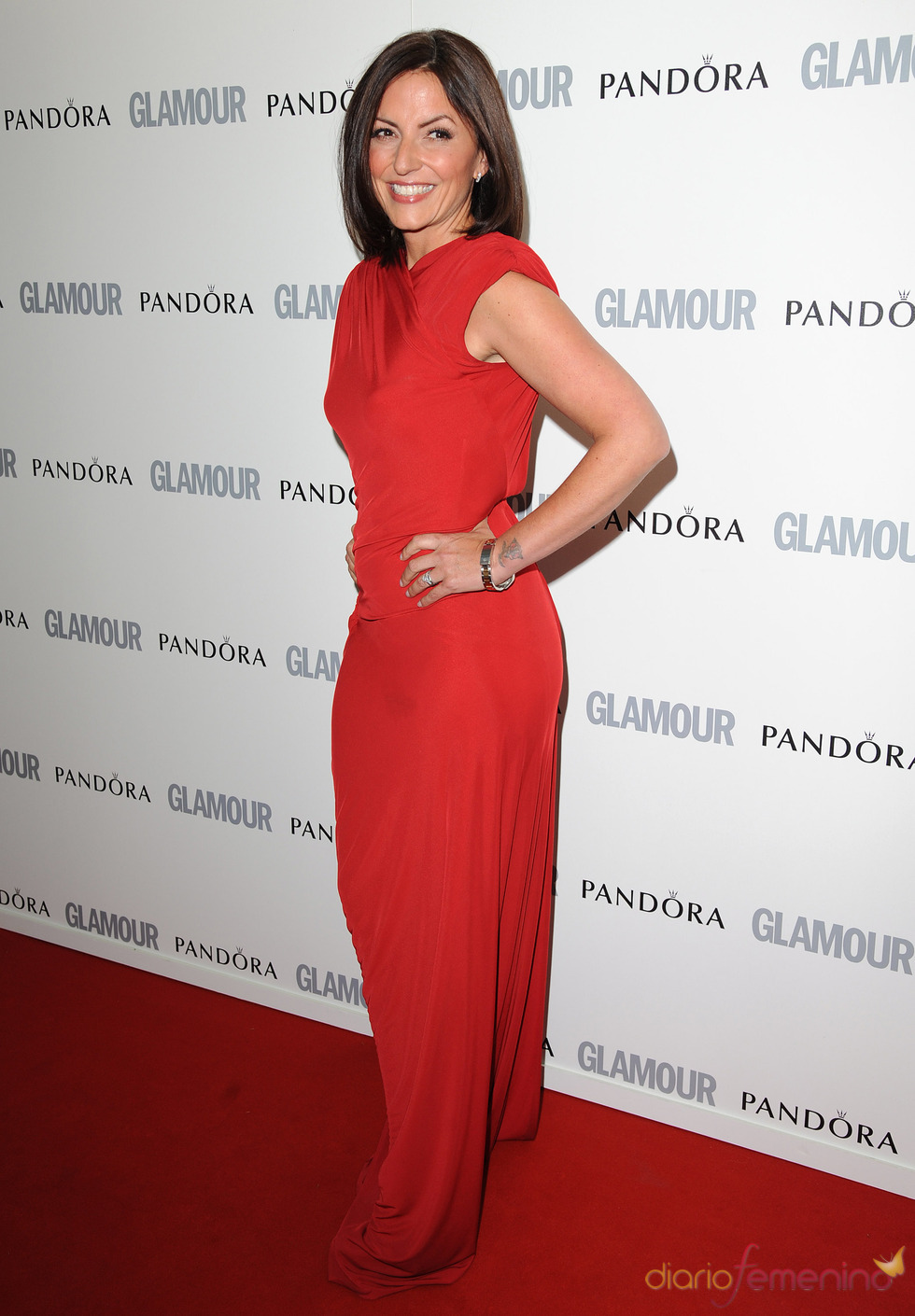 Davina McCall en los premios 'Las Mujeres del Año' 2011 de Glamour