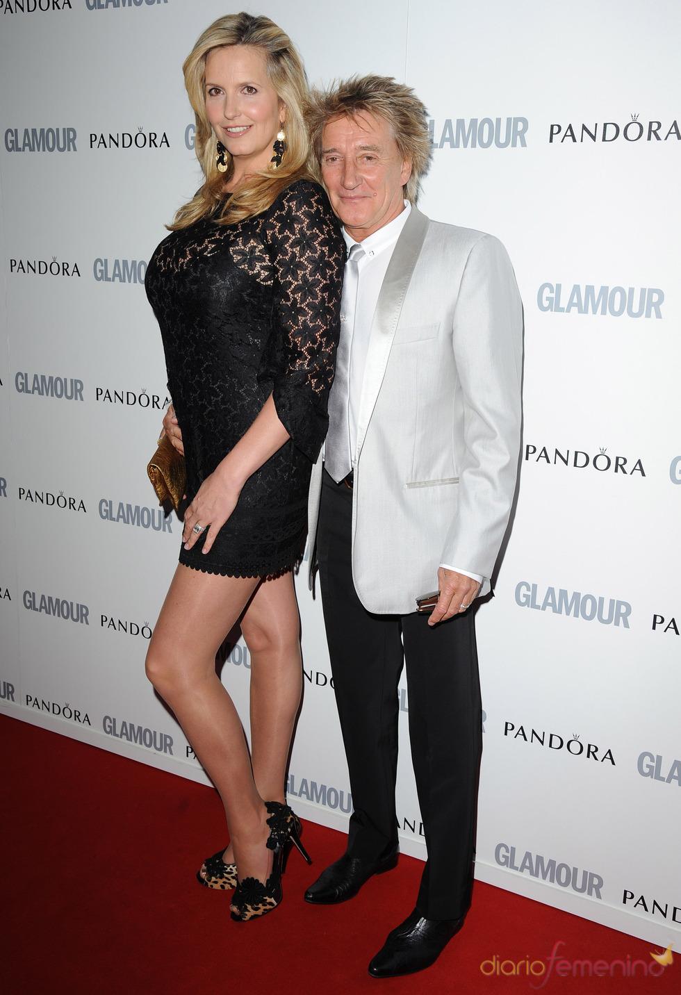 Penny Lancaster y Rod Stewart en los premios 'Las Mujeres del Año' de Glamour