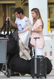 Jorge Benguria recoge a Carla Goyanes en el aeropuerto de Miami