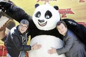 Jack Black y Florentino Fernández promocionan 'Kung Fu Panda 2' en Madrid