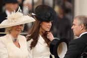 Kate Middleton comparte carruaje con Camilla y el príncipe Andrés en el Trooping of Colour