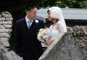 Lily Allen y Sam Cooper en el día de su boda