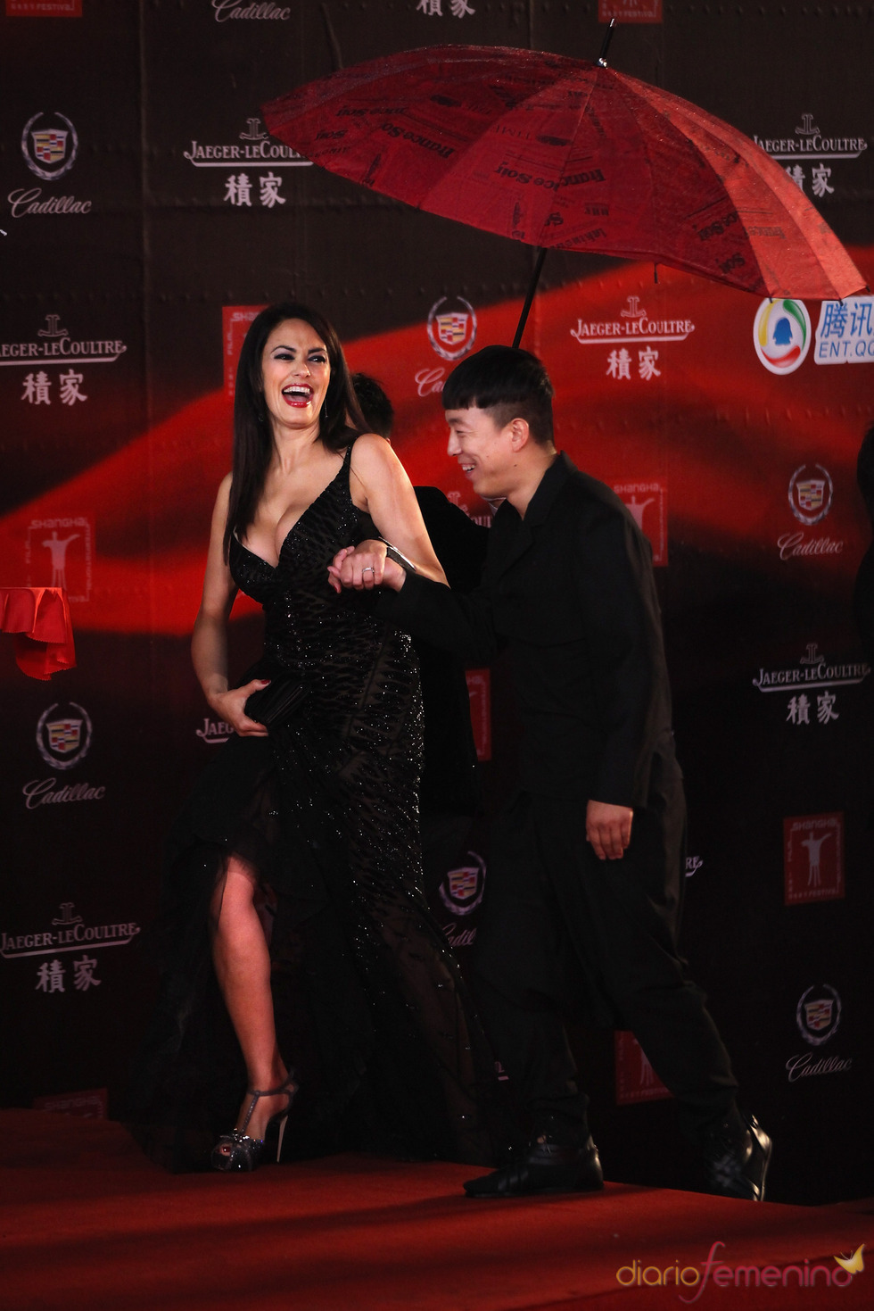 Maria Grazia Cucinotta en el Festival de Cine de Shanghái