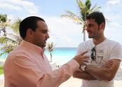 Iker Casillas rueda un spot publicitario en el Estado Mexicano Quintana Roo
