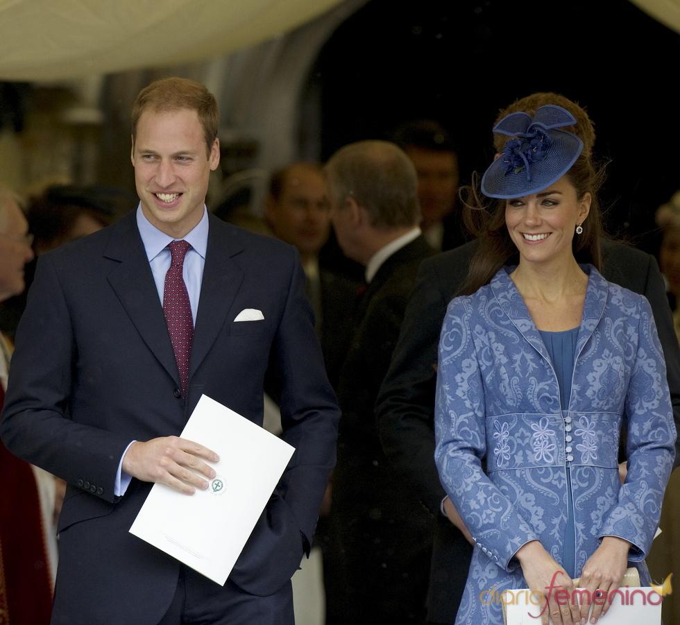 Guillermo de Inglaterra y Kate Middleton en el cumpleaños del Duque de Edimburgo