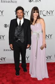 Al Pacino y Lucila Polak en la gala de los Tony 2011