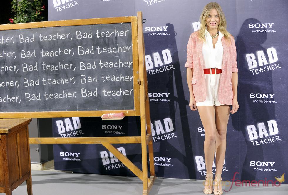 Cameron Diaz en la presentación en Madrid de 'Bad Teacher'