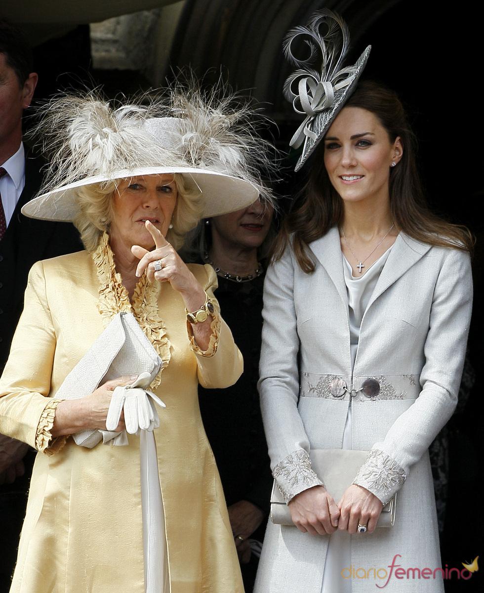Catalina Middleton y Camilla Parker-Bowles en la Procesión de la Orden de la Jarretera
