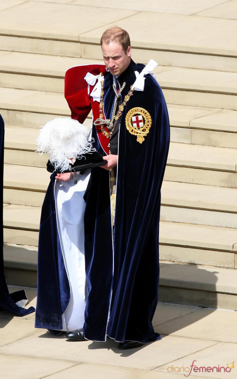 Guillermo de Inglaterra en la Procesión de la Orden de la Jarretera