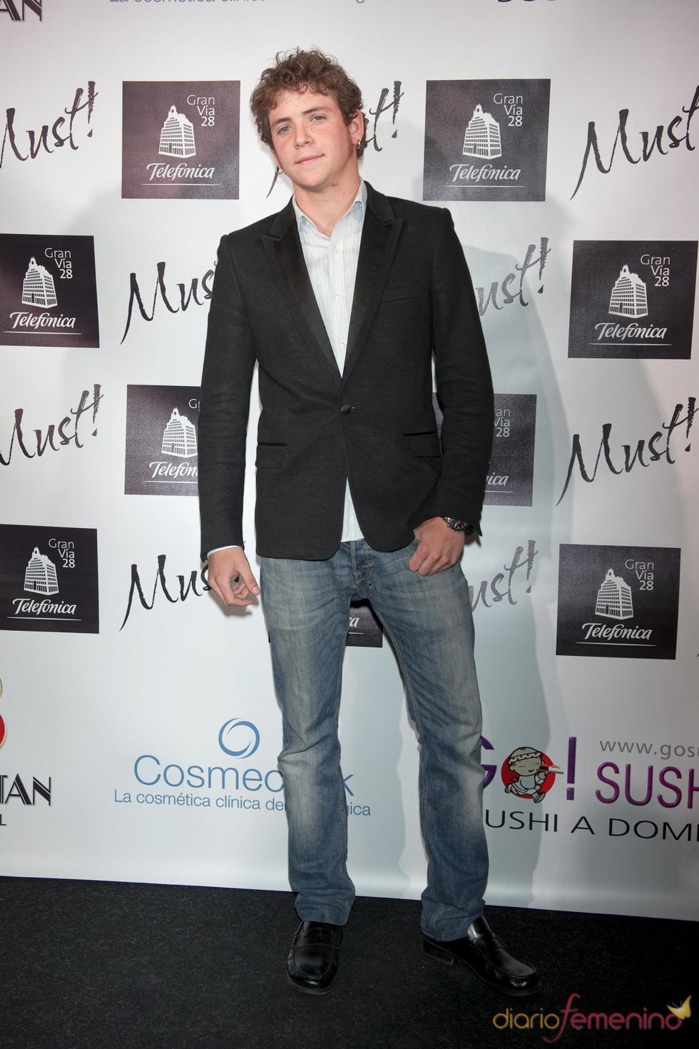 Junio Valverde en la gala de los premios Must 2011