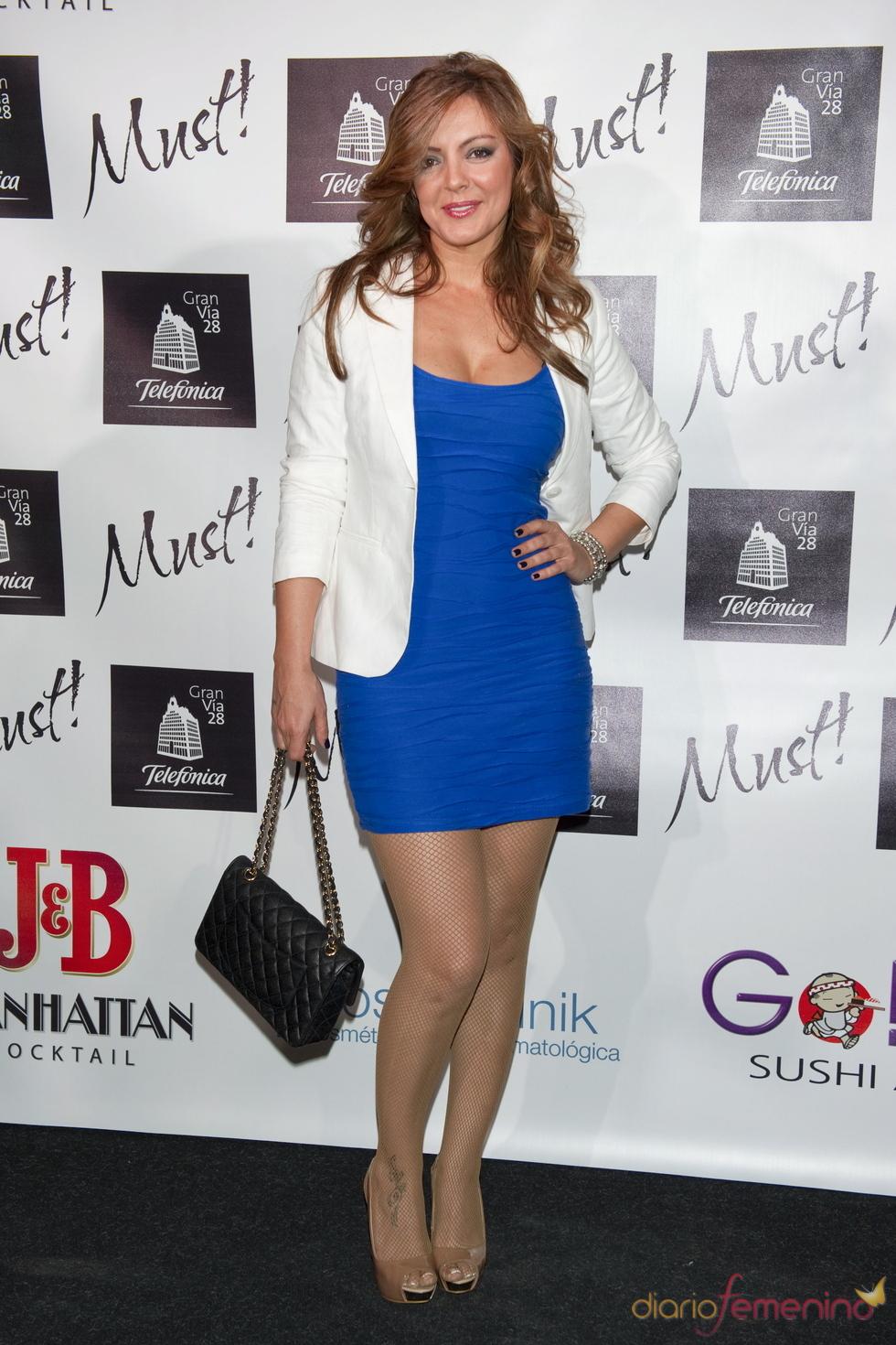 Merche en la gala de los premios Must 2011