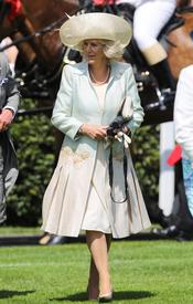 Camilla Parker-Bowles en las carreras de caballos de Ascot