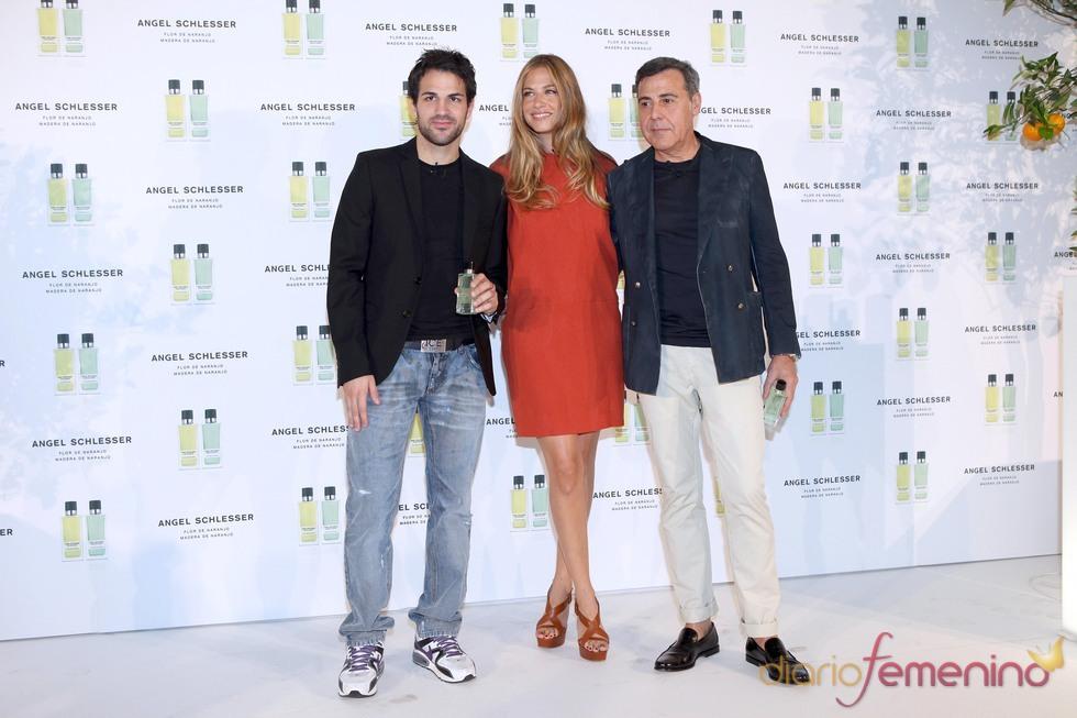 Martina Klein y Cesc Fábregas presentan con Angel Schlesser sus nuevas fragancia