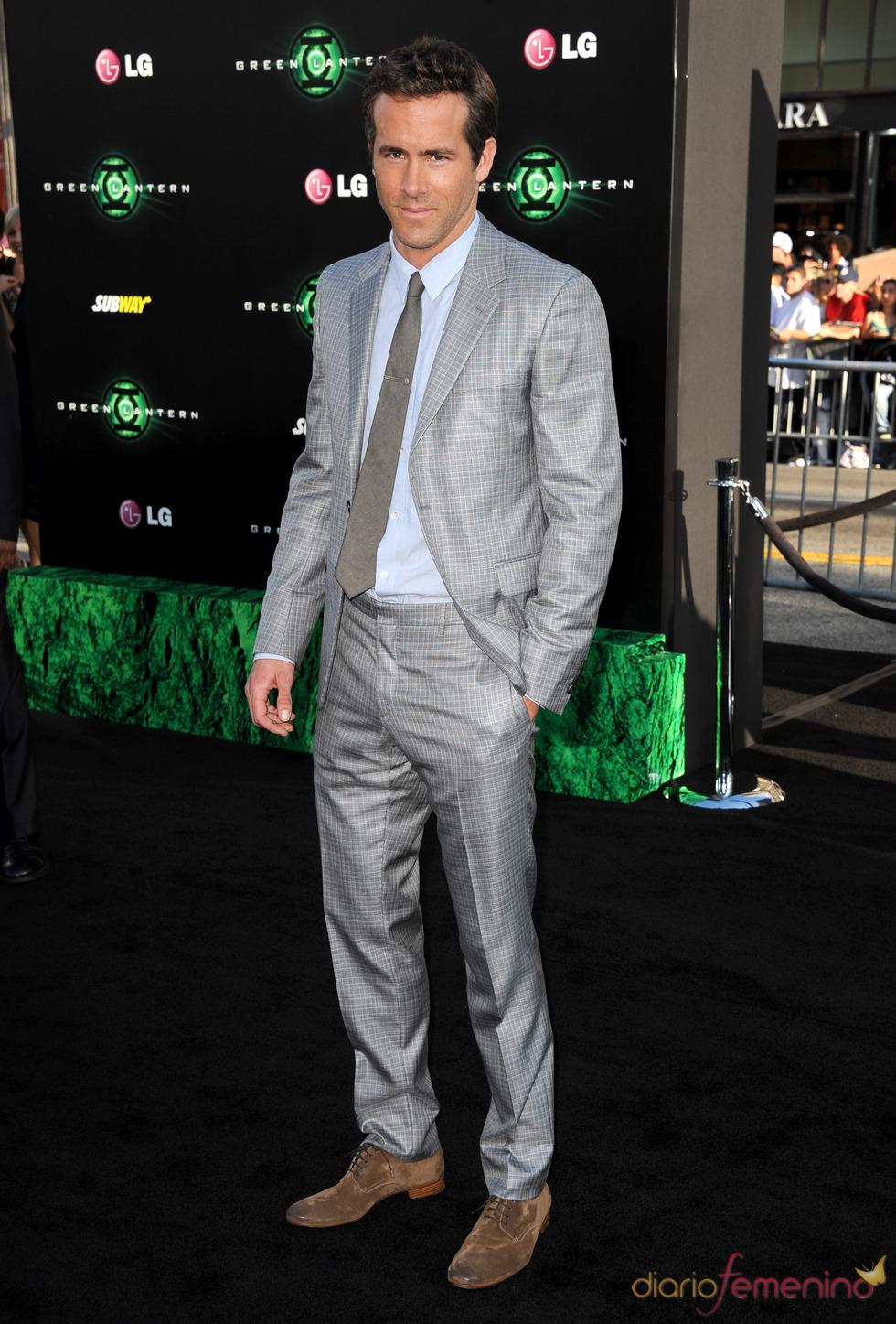 Ryan Reynolds en el estreno de 'Linterna Verde' en Los Ángeles