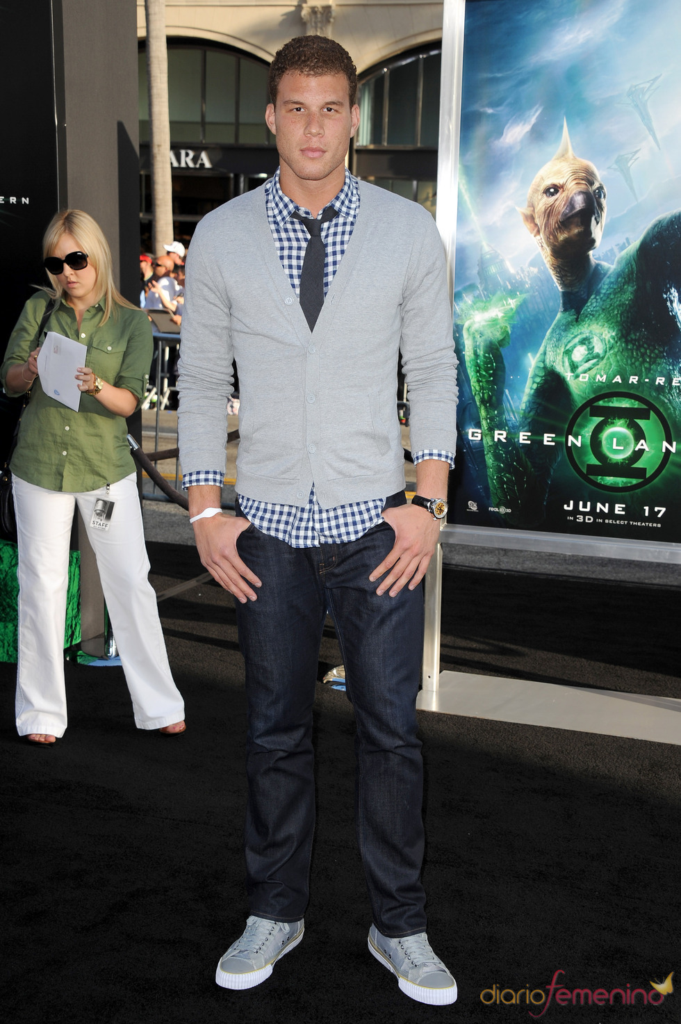 Blake Griffin en el estreno de 'Linterna Verde' en Los Ángeles