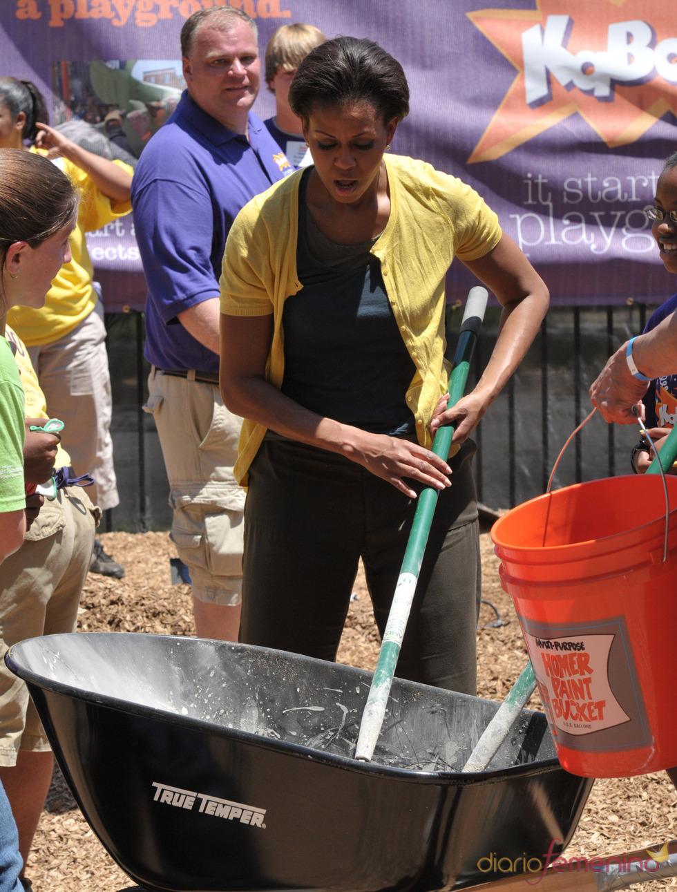 Michelle Obama construye unas instalaciones deportivas