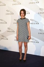 María León en un acto promocional de la firma Jaguar