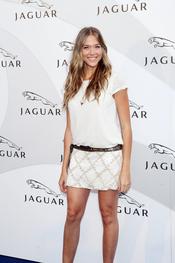 Patricia Montero en un acto promocional de la firma Jaguar