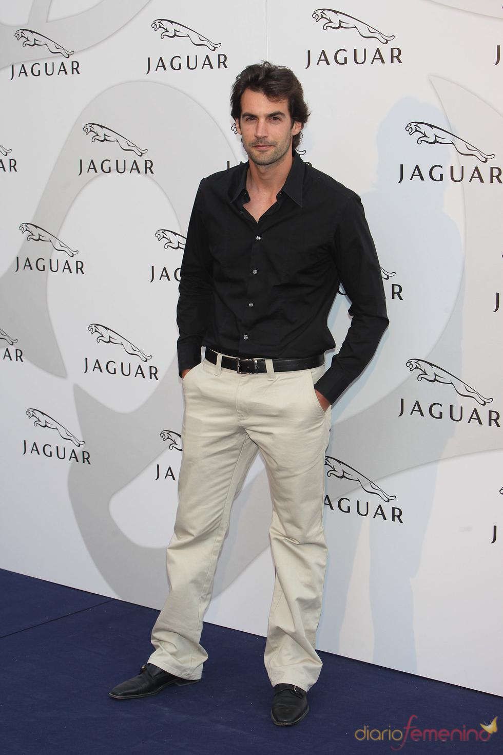 Álex Adrover en un acto promocional de la firma Jaguar