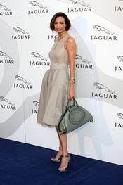 Juncal Rivero en un acto promocional de la firma Jaguar