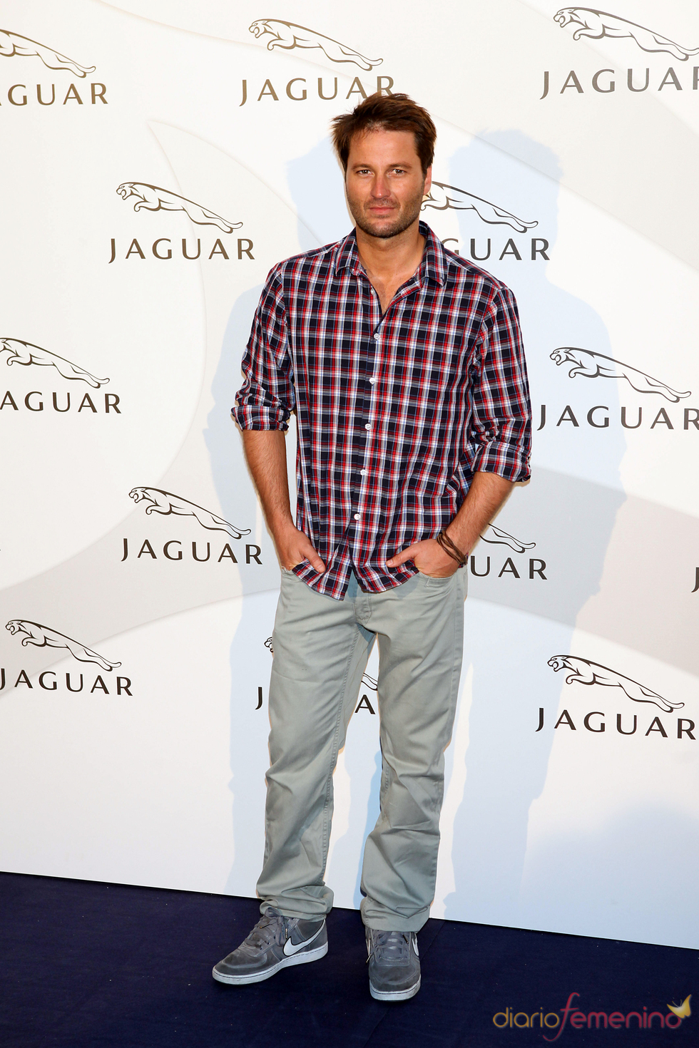 Fernando Andina en un acto promocional de la firma Jaguar
