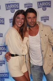 Laura Sánchez y David Ascanio en la presentación del Calendario Larios 12 en Barcelona