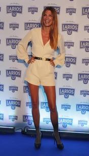 Laura Sánchez en la presentación del Calendario Larios 12 en Barcelona