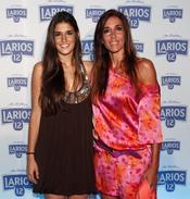 Elsa Anka y su hija Lidia en la presentación del Calendario Larios 12 en Barcelona