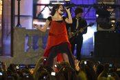 Selena Gomez durante su actuación en los MuchMusic Video Awards 2011