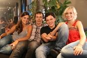 Amaia, Fele, Adam y Norma en el rodaje de 'Tensión sexual no resuelta'