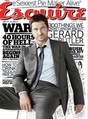 Gerard Butler en la portada de 'Esquire'