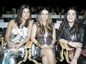Raquel Perelada, Elena Tablada y Nelea Tablada en el desfile de Custo en Miami