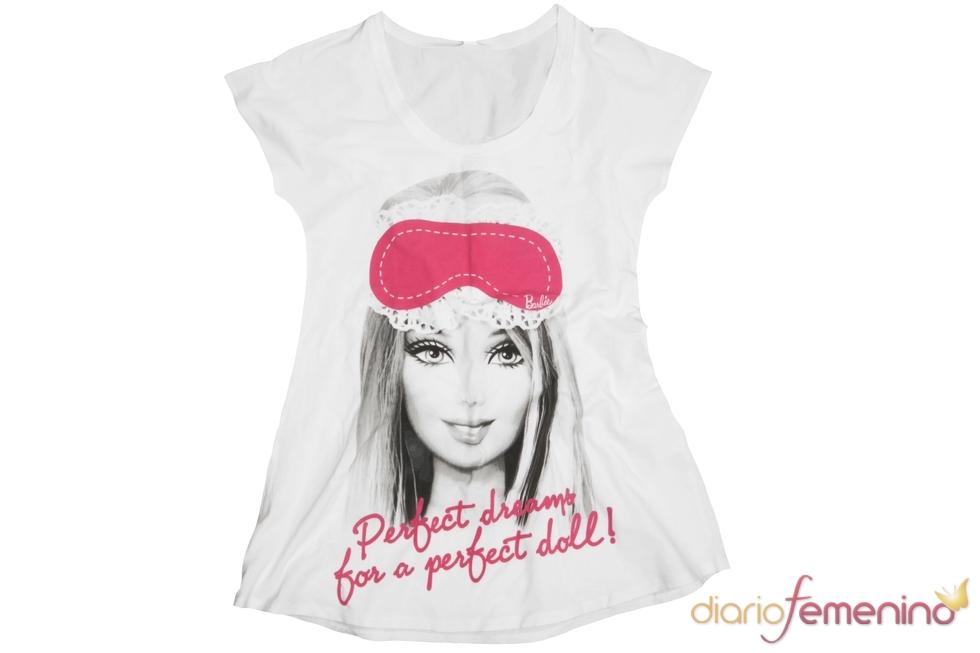 Camiseta de Blanco con la imagen de Barbie