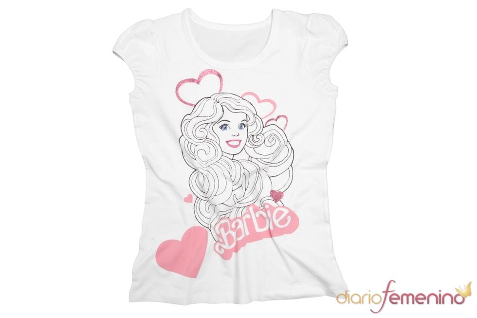 Camiseta romántica de Barbie para Blanco