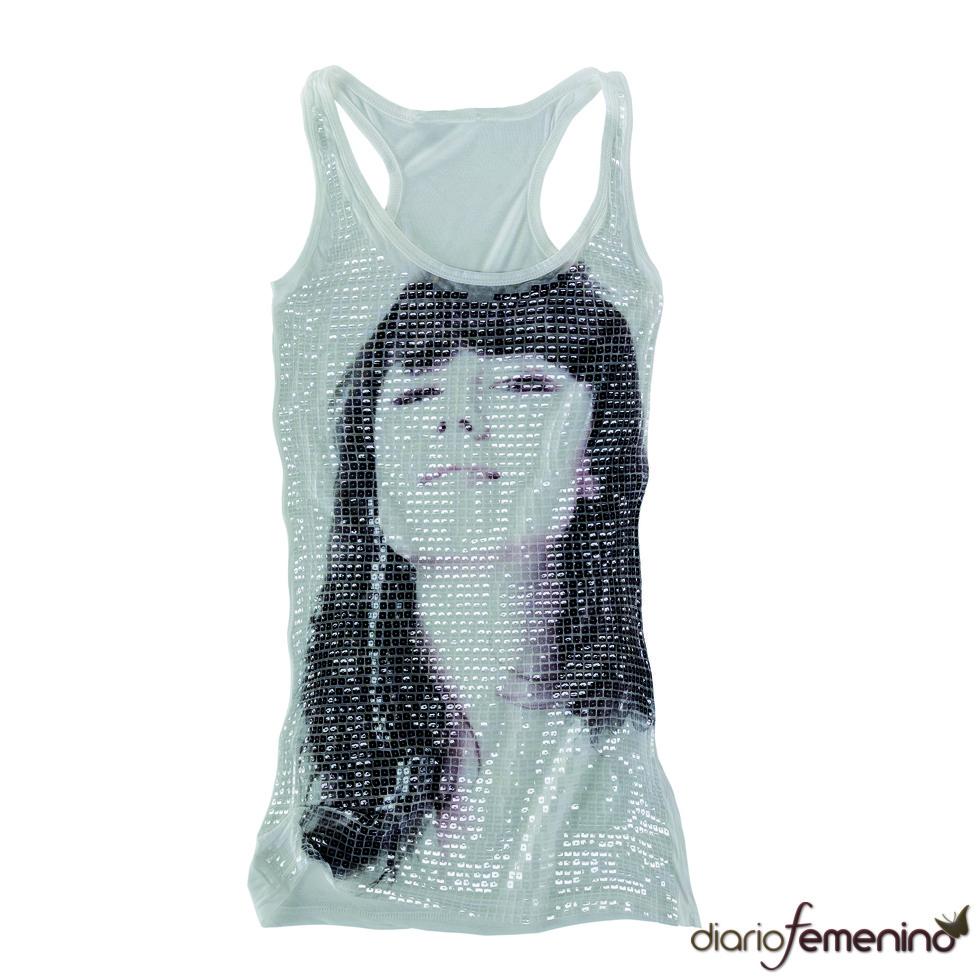 Camiseta de tirantes con foto de chica de Pull and Bear