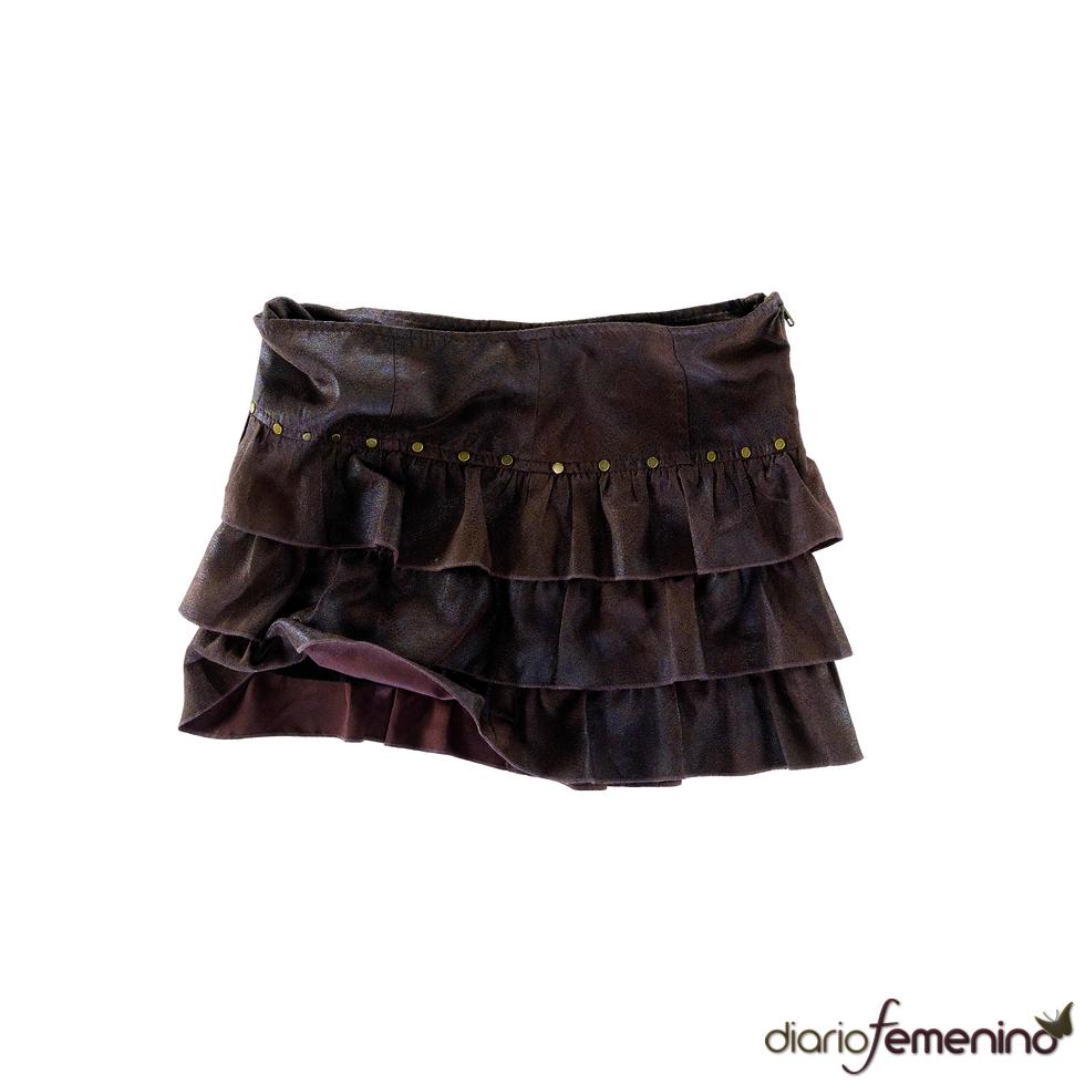 Minifalda con volantes de Pull and Bear