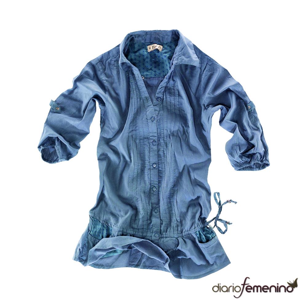 Pull and Bear: vestido camisero gris