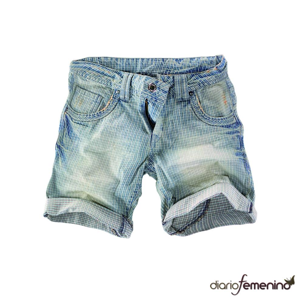 Shorts desteñidos de Pull and Bear