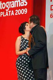 Blanca Romero y Juan Diego en los Fotogramas de Plata 2009