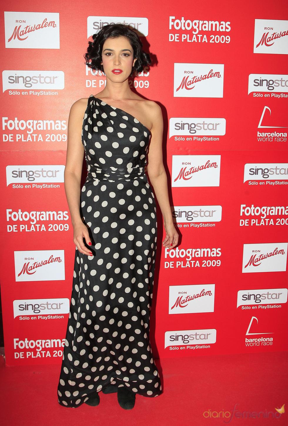 Blanca Romero en los Fotogramas de Plata 2009