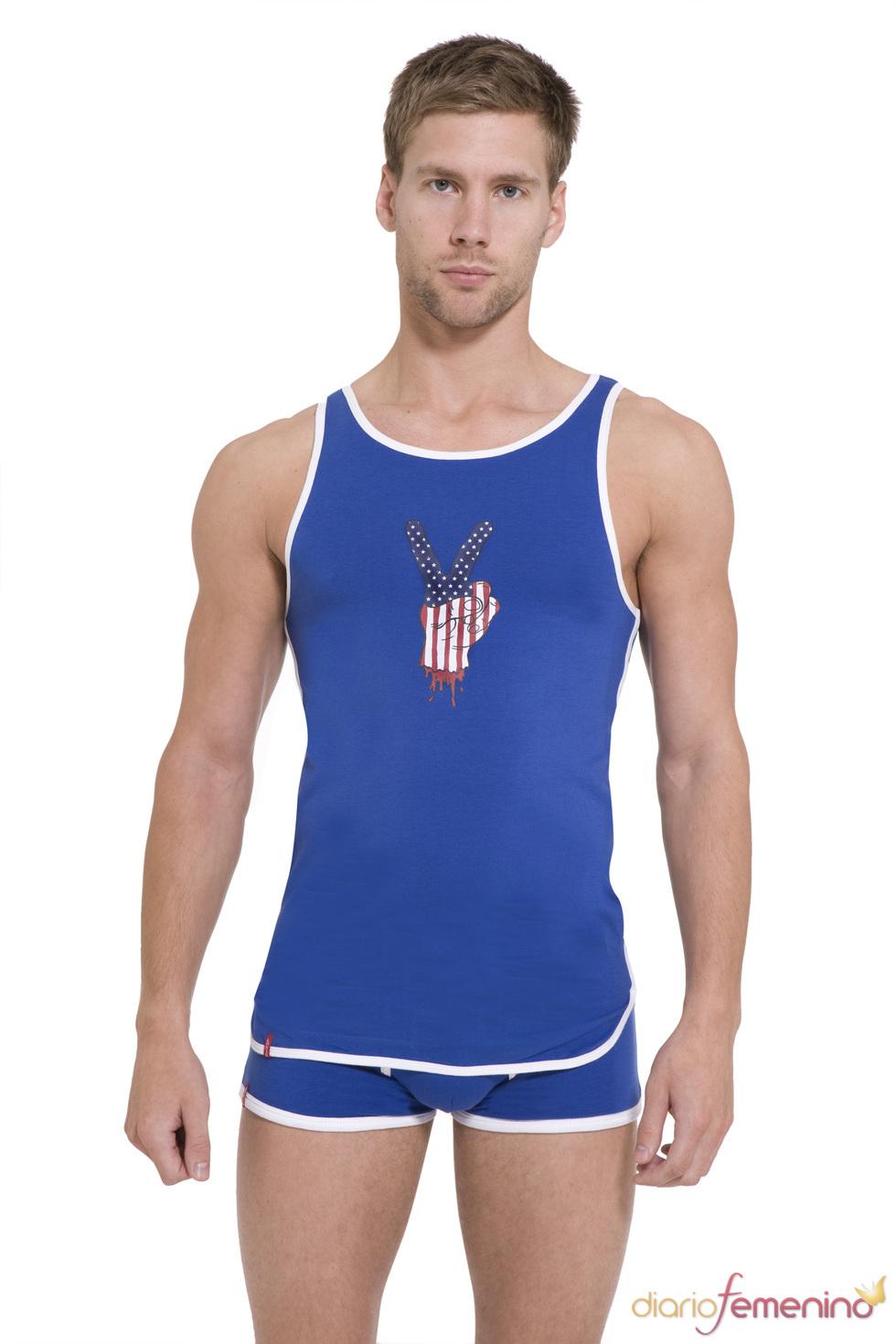 Camiseta de tirantes y calzoncillo azules de Levi's
