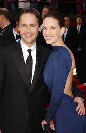 Hilary Swank y Chad Lowe en los Oscar 2005: 11 meses hasta romper