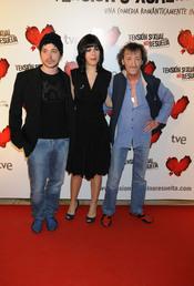 El actor Eduardo Gomez con su joven novia