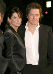 Hugh Grant y Sandra Bullock en el estreno de 'Music and Lyrics'