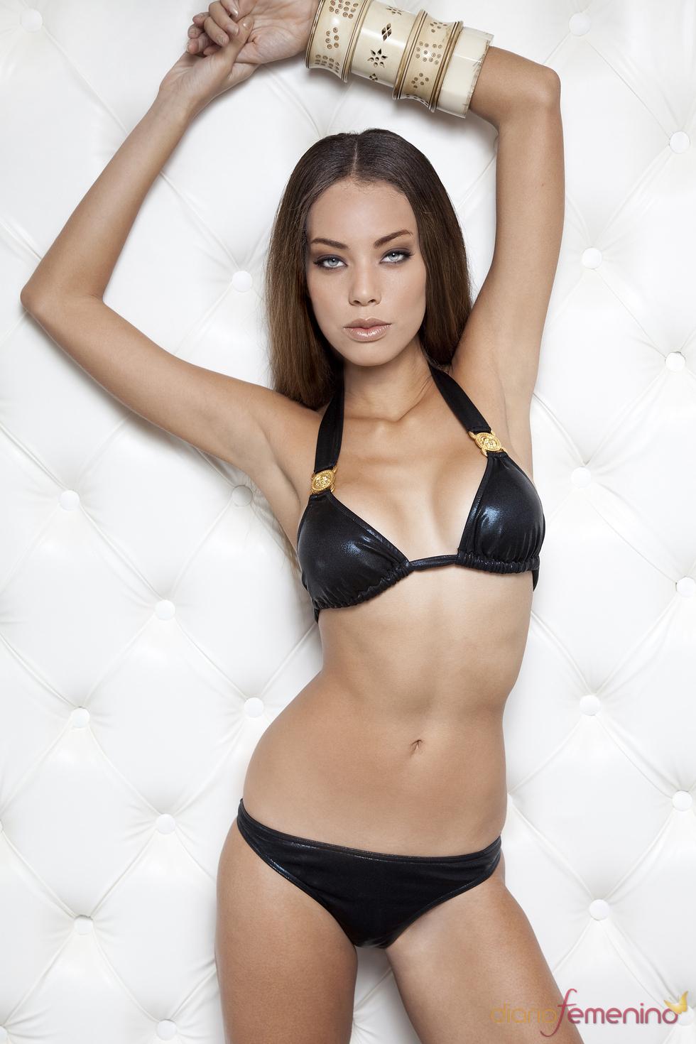 Bikini negro brillante de Lenita