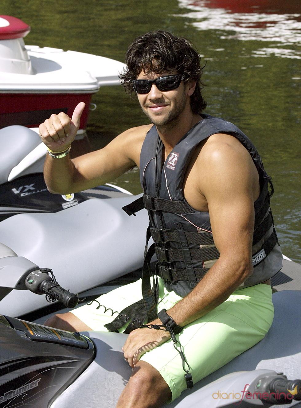 Fernando Verdasco en moto acuática