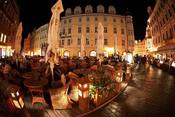 Terrazas en la plaza de la Ciudad Vieja, Praga