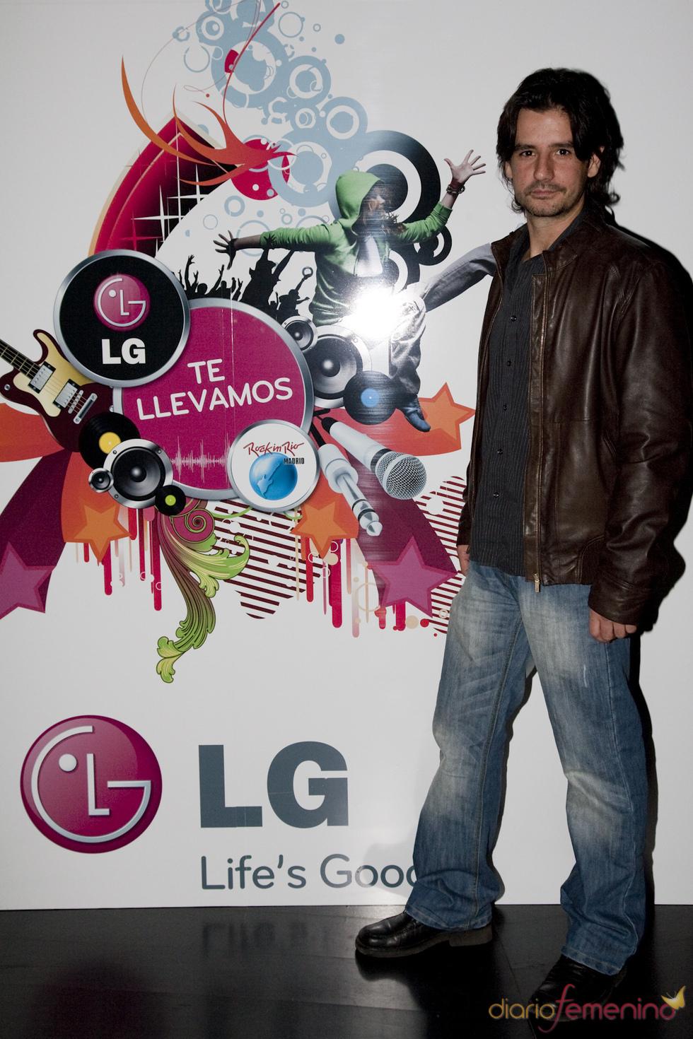 Antonio Hortelano en la presentación de LG como patrocinador de Rock in Rio Madrid 2010.
